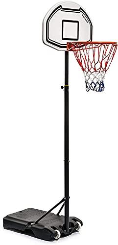 meteor Canasta Baloncesto Portátiles Ajustable - Tablero Basketball Interior y Exterior (160 - 210 cm, Boston 18)