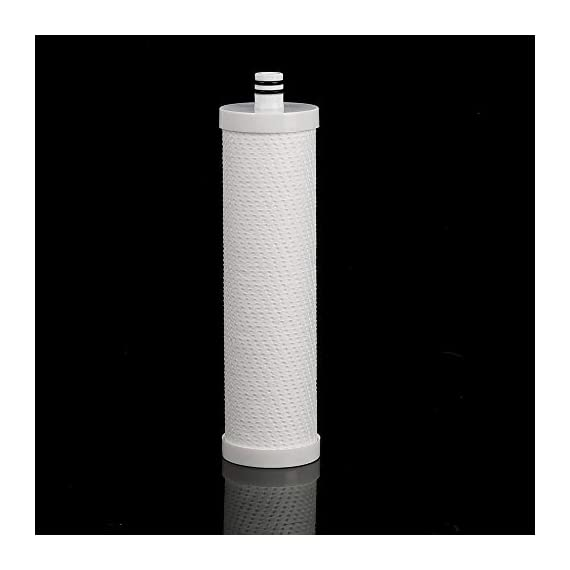 Frizzlife FZ-2 Replacement Filter Cartridge For MP99, MK99, MS99 Under Sink Water Filter & MV99 RV Filter 2 TWO-STAGE ADVANCED PURIFY: 2 in 1 TWO-STAGE compoud filter, sediment filter cartridge with 5 micron precision reduces particle material such as sand, silt and rust from the water. Block carbon filter cartridge with 0.5 micron precision that reduces 99.99% of LEAD, CHLORINE, ODOR and PARTICLES from the water. HIGH BENEFITS: The Frizzlife MP99, MK99, MV99, MS99 has unique technology that removes over 99.99% of contaminants while leaving in all essential minerals, which are vital to your health, including calcium, potassium, and magnesium. Enjoy PURE AND HEALTHY WATER From the tap. COMPATTIBLE REPLACEMENT FILTER for Frizzlife MP99 water filtration system(ASIN B07J9QRVDM), MK99 water filter system(ASIN B07MFYQBTX), MV99 Inline RV filter(ASIN B08PCJNPHR) and MS99 Inline Water Filter for Refrigerator(ASIN B08NY78DC3). It's the only core filter cartridge you will need to replace for them.