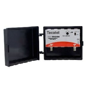 Tecatel AMP-LTE404F - Amplificador mástil 40 dB UHF LTE, Color Blanco