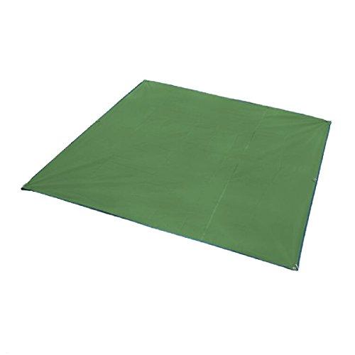 Azarxis Bâche de Tente Tapis de Sol Abri Hamac Parasol Imperméable Portable Léger Anti Pluie Pour Camping Plage Randonnée (Vert, 215 x 215 cm)