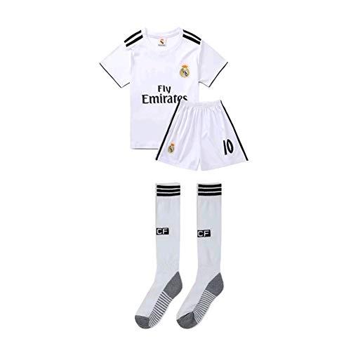 PAOFU-Real Madrid Luka Modric # 10 Fußballtrikot Set Für Kinder Jugendliche,Weiß,16