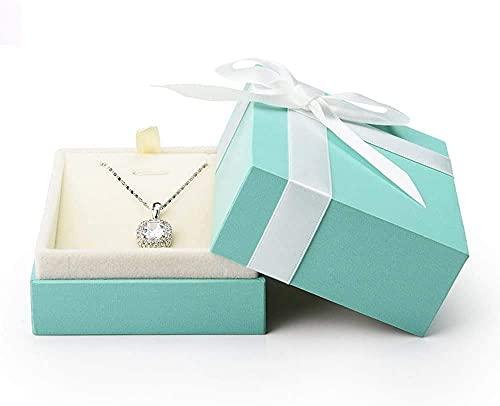 Recet Joyero de terciopelo con colgante para joyas, ideal como regalo para mujeres y niñas (estilo aleatorio)