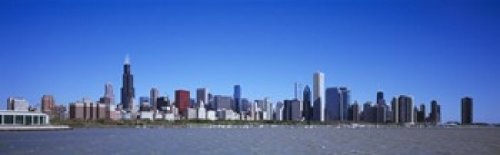 Panoramic Images – Skyscrapers at the waterfront Willis Tower Shedd Aquarium Chicago Cook County Illinois USA 2011 Photo Print (91,44 x 30,48 cm)
