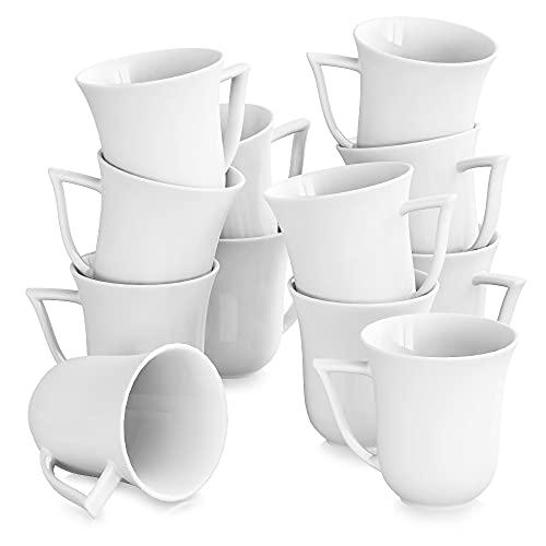 MALACASA, Série Carina, 12pcs Services à Café Porcelaine, Services à Thé, Tasses Porcelaine Tasse à Café Mugs