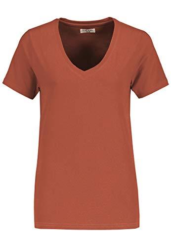 Sublevel Damen Basic T-Shirt mit V-Ausschnitt einfarbig red XL