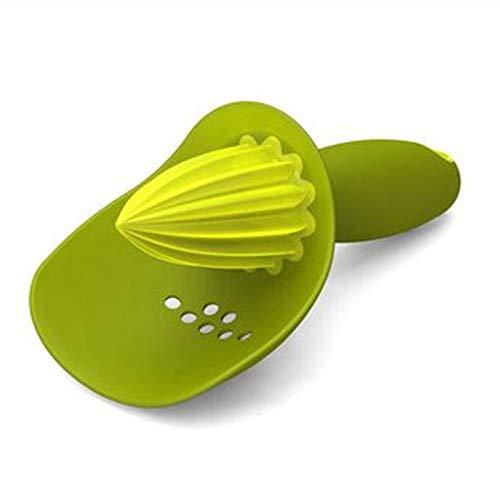 LQG Manueller Squeezer, tragbarer Zitronenpresse-Entsafter aus Kunststoff, Einhand-Fruchtsaftpresse aus rostfreiem Stahl für Home-Office-Sportreisen im Freien,Grün