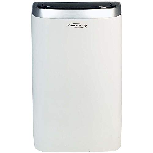SoleusAir 14,000 Portable Air Conditioner with 11,000 BTU Supplemental Heat and MyTemp Remote Control, Room up to 550 sq. ft, White