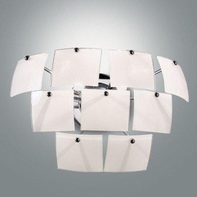 Lámpara de pared 2-lámpara de techo (cristal) Color Urania: hojas de plata