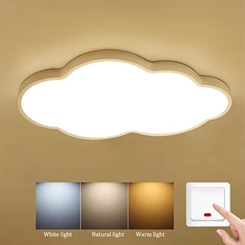 JINWELL Moderne LED Deckenleuchten Ultradünne Deckenleuchte Led 5 cm Kreative Wolken Stufenlos Dimmen Deckenleuchte für Jungen Mdchen Schlafzimmer Kindergarten mit Fernbedienung (weies Licht 48W)