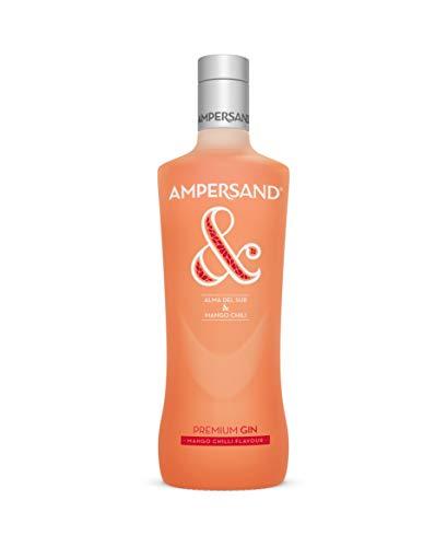 Ampersand - Ginebra premium nacional, sabor Mango con toque de Chilli - 1 botella de 700 ml