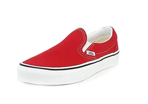 Vans Mens U Clasic Slip ON RED True White Size 9