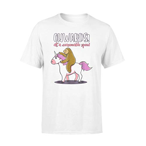 Sloth and Unicorn Shirts - Ouw.ARDS At A Reaso.nable Speed T-Shirt - Standard T-Shirt - Front Print T Shirt For Men and Woman.