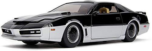 Jada - 31115-1982 Pontiac Firebird Modelo Escala 1/24 K.A.R.R. Enemigo de K.I.T.T. Metalo Die Cast con luz LED Frontal de Knight Rider - Negro/Gris - 20cm