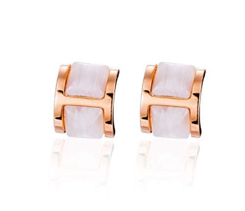 Pendientes de oro rosa de ópalo pendientes de plata pura femenina nobles y elegantes 2021 nueva moda exquisitos pendientes brillantes muestran una cara pequeña