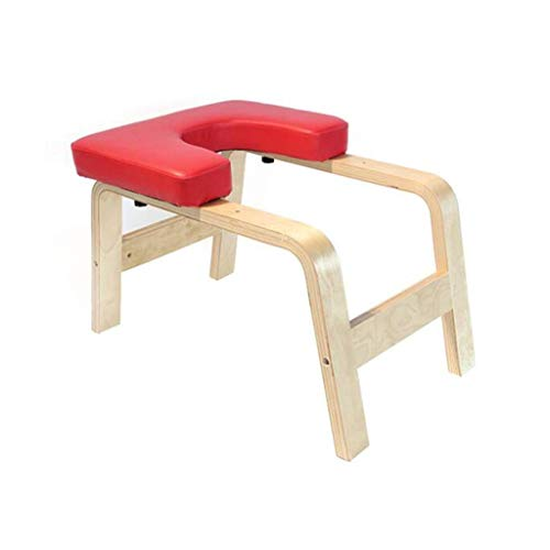 Buy Bargain C-Xka Yoga Headstand Bench Wood Stand Yoga Inversion Chair Stool Handstand with PU Pads ...