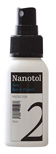 Nanotol Auto, Boot, Freizeit Protector 50 ml (8 m²) - Nanoversiegelung (Step 2) für Lack, Felgen, Autoglas - Glanzversiegelung Lackpflege Lotuseffekt Keramik-Polymer-Hybrid-Beschichtung