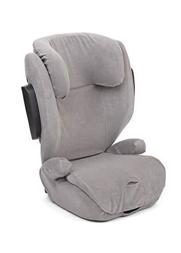 Set Joie Traver Schonbezug & Windel Blaubär, Kindersitz Sommerbezug für Joie Autositze i-Traver, Traver und Traver Shield, Anti-Schwitz-Einlage, Design:Gray flannel