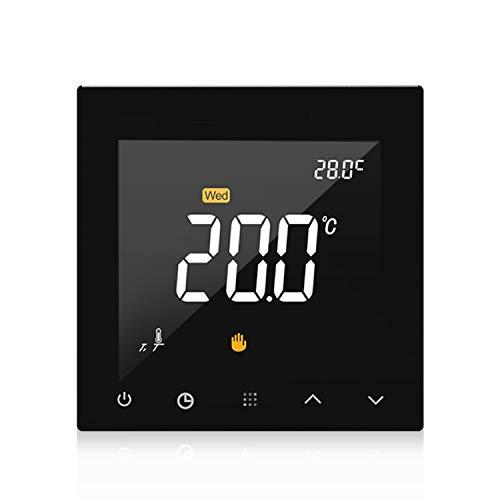 KKmoon WIFI Smart Thermostat Programmierbare Wasser Fußbodenheizung Temperaturregler Touchscreen Farbdisplay mit App Fernbedienung