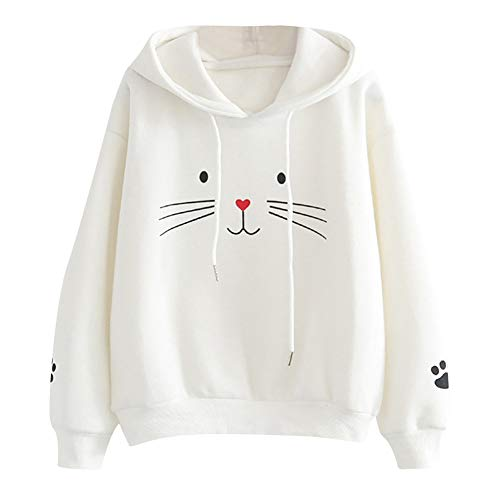 ZYUEER Fours encastrables-Capuche Oreilles Chat Sweatshirt Kawaii Manteau à La Mode Pullover...