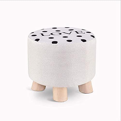 HZYDD Sitzhocker aus Holz, waschbar, stapelbar, platzsparend, Fußhocker, niedriger Stuhl, weiche Sofa-Fußstütze, Haushaltsgeschenk (Muster: Hirsch) (Farbe: Liebe)
