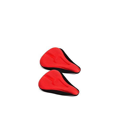 Ogquaton 2 fundas para asiento de bicicleta con funda impermeable de gel para sillín de bicicleta de montaña, color rojo, conveniente y práctico
