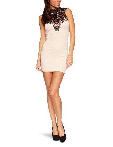 Lipsy Damen Kleid (knielang) JD01728, Gr. 42 (16), Mehrfarbig (black/nude)
