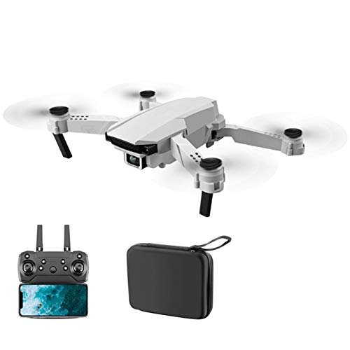 S62 Foldable Drone with 4K HD Dual Camera, RC Quadcopter with App Control & Gesture Selfie, WiFi Live Video Drone for Adults, Kids & Beginners (1 Body Battery) (Color : White 1080p WiFi D Battery)