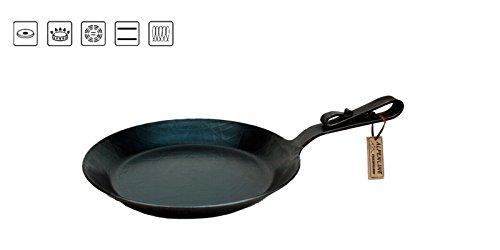 Alpenline Eisenpfanne handgeschmiedet, schmiedeeiserne Pfanne mit Schnabelstiel Ø 24 cm