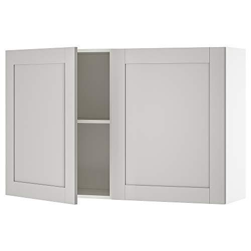 KNOXHULT armario de pared con puertas 120x31x75 cm gris