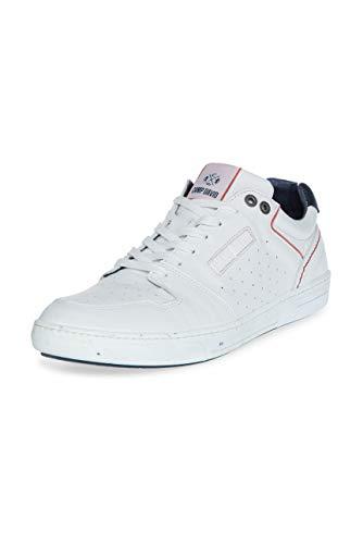 Camp David Herren Premium Sneaker aus perforiertem Leder