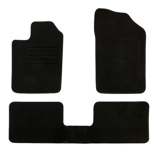 DBS Tapis de Voiture - sur Mesure pour Clio 2 (2001-2012) - 3 pièces - Tapis de Sol antidérapant pour Automobile - Moquette Classic