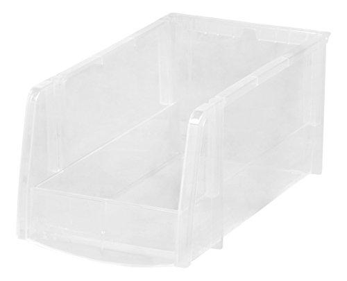 IRIS USA Storage Bin Medium 8 Pack Clear 585566