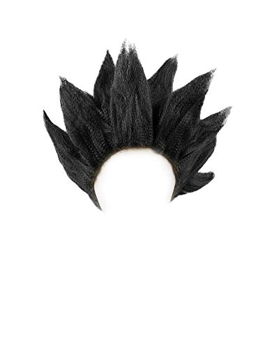 miccostumes Men's Saiyan Cosplay Wig (Black)
