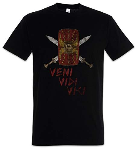 Urban Backwoods Veni Vidi Vici Shield Hombre T-Shirt Negro Talla 5XL