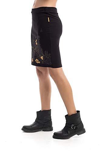 Mamatayoe Cremona Falda, Negro (Negro 1), Large (Tamaño del Fabricante:L) para Mujer
