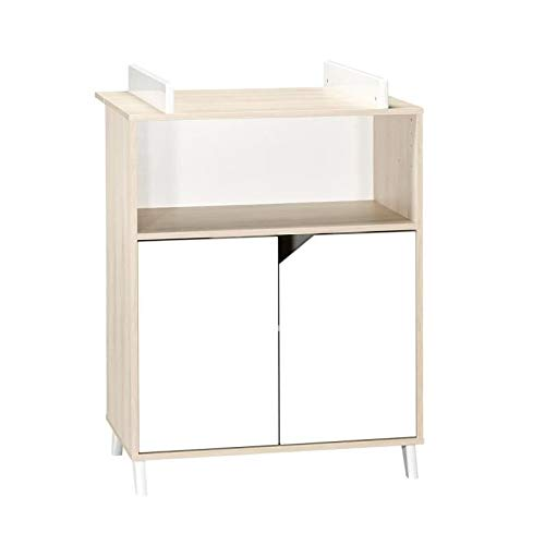Babyprice - SCANDI NATUREL - Commode 2 Portes et 1 Niche
