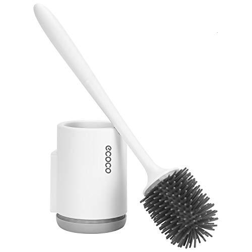Skroad WC-Bürste und Halter, Toilettenbürstenhalter Ohne Bohren Wand Toilettenbürsten für Badezimmer oder Gäste-WC