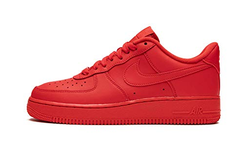 Nike Mens Air Force 1 '07 Lv8 Triple Red Cw6999 600 - Size 10.5