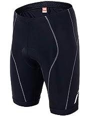 Lefuyan Pantalones Cortos De Ciclismo para Hombre Pantalones De Bicicleta 3D Acolchados Pantalones De Bicicleta, Absorbente Transpirable,S