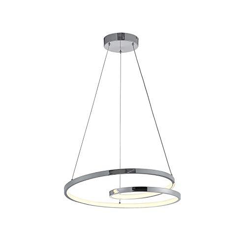 LED Lámpara colgante 'Maire' (Moderno) en Plateado hecho de Aluminio e.o. para Salón & Comedor (1 llama, A+) de Lucande   lámpara colgante LED, lámpara colgante LED, lámpara LED, lámpara de techo