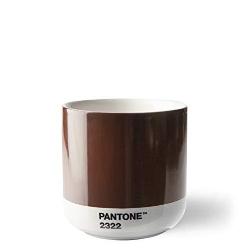Pantone doppelwandiger Porzellan-Thermobecher Cortado, ohne Henkel, 190ml, Brown 2322