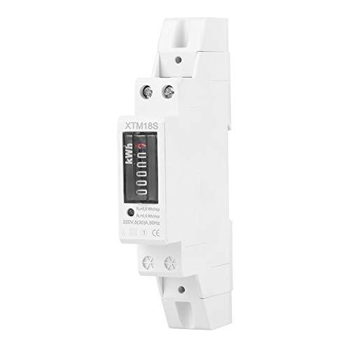 Contatore elettrico KWh 220V 5 (30) Un misuratore di energia monofase 1P 2 fili Tipo guida DIN KWH Watt Hour Contatore di energia elettrica Misurazione digitale EKM