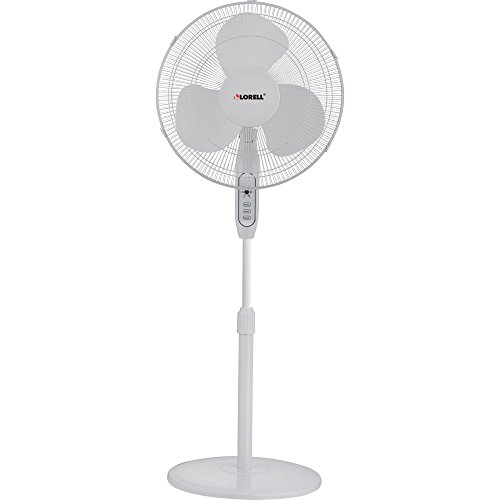 Lorell, LLR49251, Remote Oscillating Floor Fan, 1 / Each, White