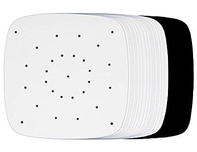 Air Fryer Parchment Paper Compatible with Philips Viva, NuWave Brio 3 & 4.5 QT, Secura XL 5.3 QT, Maxi-Matic Elite Platinum 3.2 QT, Comfee 2.6 QT +More | Sheets Accessories for Airfryer