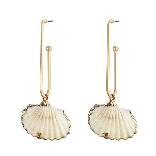 UINGKID Damen Ohrringe Mode Ohrstecker Vintage Ocean Series Muschel Temperament Muschel Weibchen