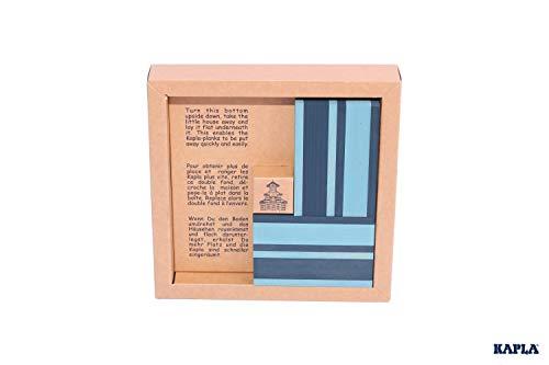 Kapla 9000105 Holzplättchen 40er Box Buch, Blau - 3