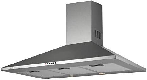 Cata | Campana Extractora | Modelo OMEGA 600 | Campana Decorativa de Pared | 3 niveles de extracción | Ancho de 60 cm | Acabado en Inox | Clase de Eficiencia Energética C