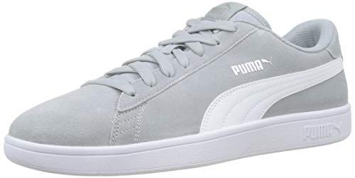 Puma Puma Smash v2 Sneaker Unisex-Erwachsene, Grau (High Rise-Puma Silver-Puma White), 44 EU