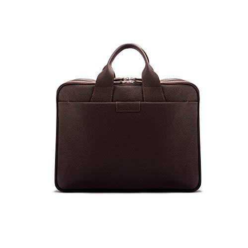 SageBrown Brown With Silver Zips Belmont Briefcase