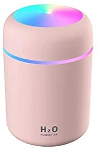 FDABFU Humidificador portátil 300Ml USB ultrasónico Dazzle Cup Aroma Difusor Cool Mist Maker Purificador de humidificador de Aire con romántico Rosa Claro